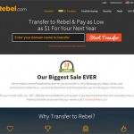 $1 Domain transfers at Rebel.com