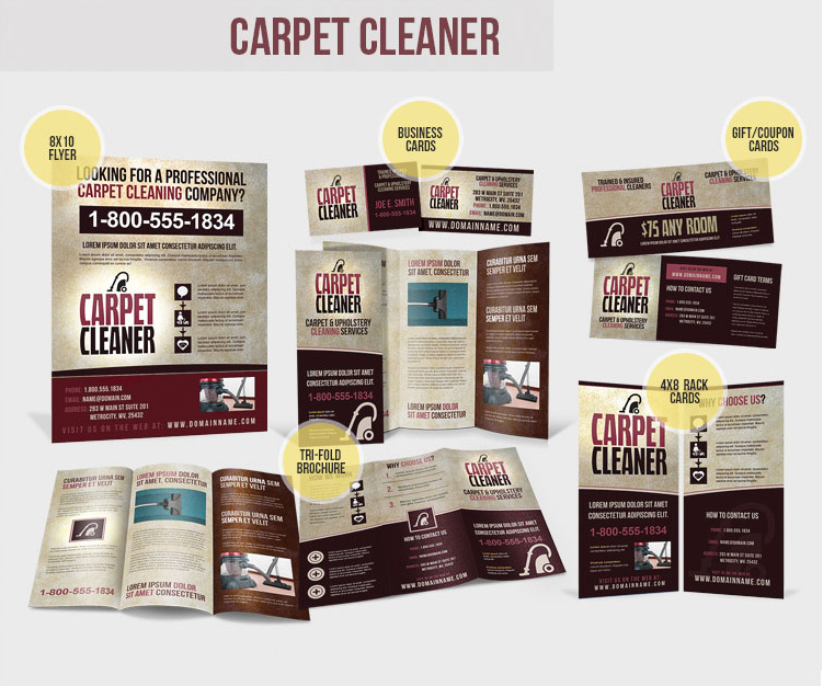 Carpet Cleaning – Local Business Advertising Pack